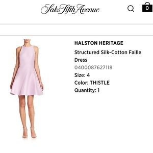Halston Heritage Structured Silk Cotton Dress